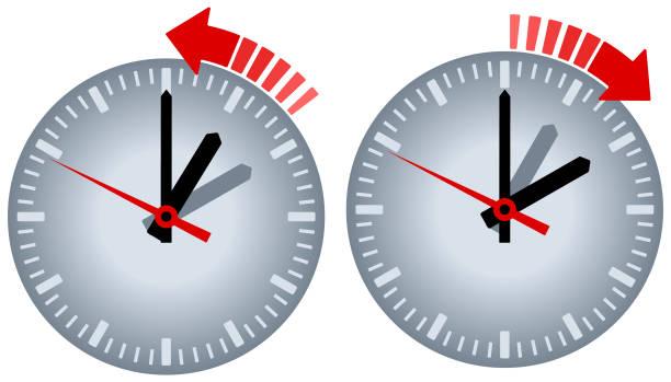 watch daylight saving vector icon - spring forward stock illustrations, clip art, cartoons, & icons