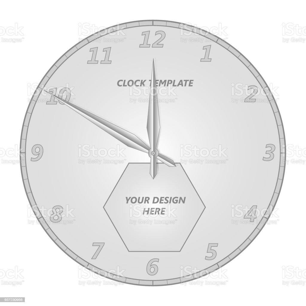 32d5b95afc Modelo de rosto de relógio com ponteiros das horas e minutos. vetores de  modelo de