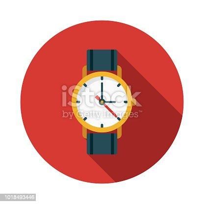 istock Watch Flat Design Switzerland Icon 1018493446