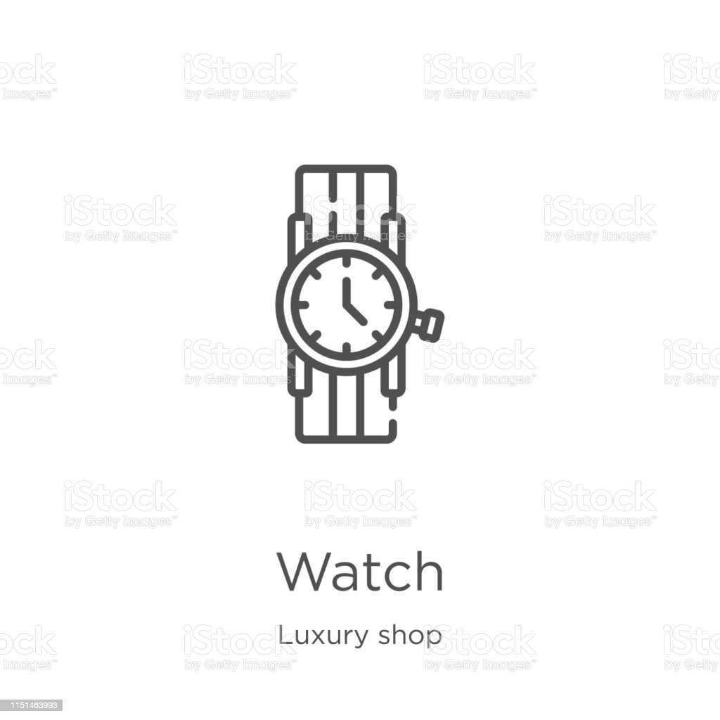 watch icon. Element of luxury shop collection for mobile concept and...