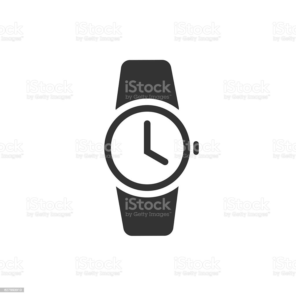 royalty free icon of a black and white wrist watch clip art vector rh istockphoto com clipart watch out watch clipart png