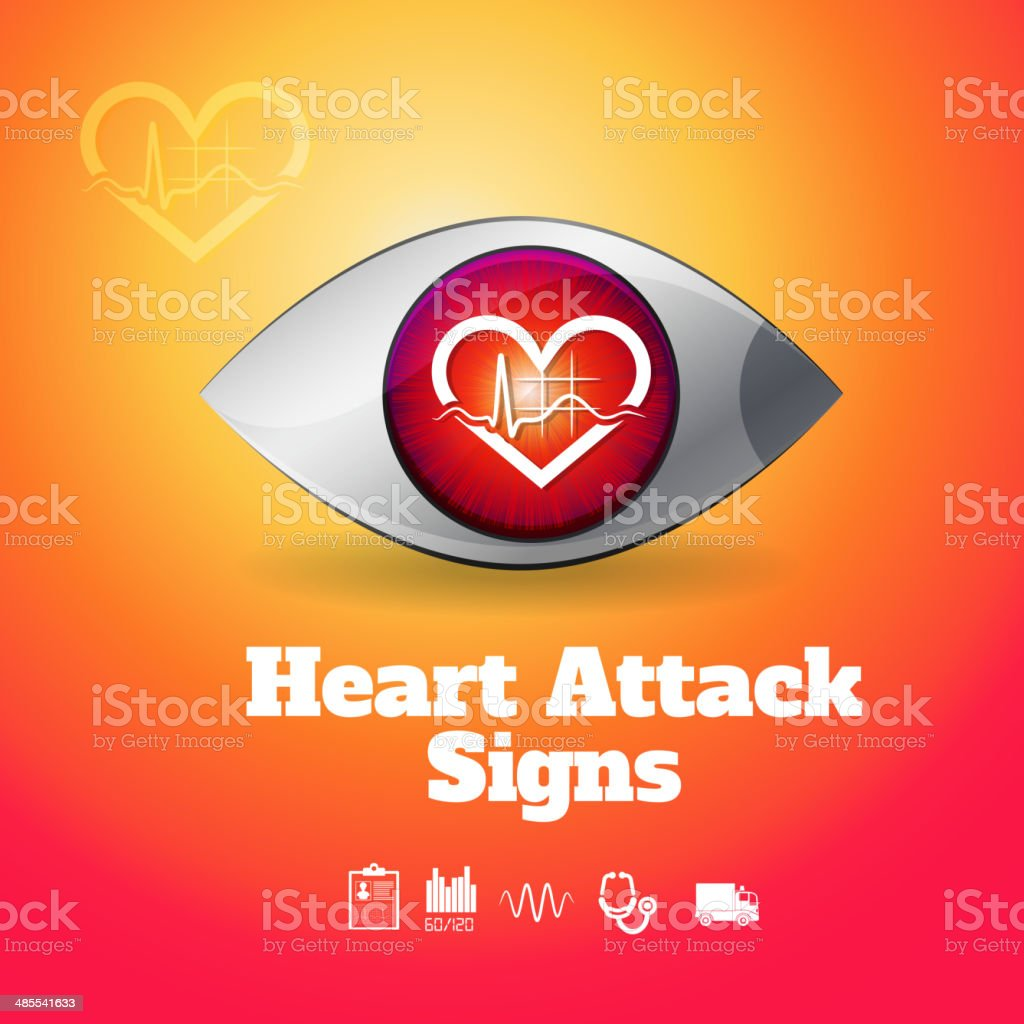 Watch Out - Heart Attack royalty-free stock vector art