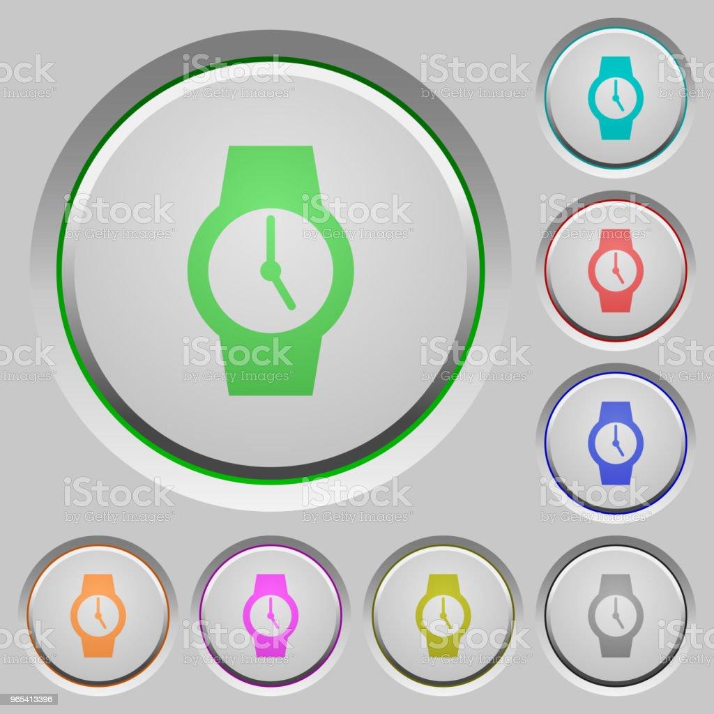 Watch push buttons watch push buttons - stockowe grafiki wektorowe i więcej obrazów akcesorium osobiste royalty-free