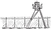 Watch tower in prison