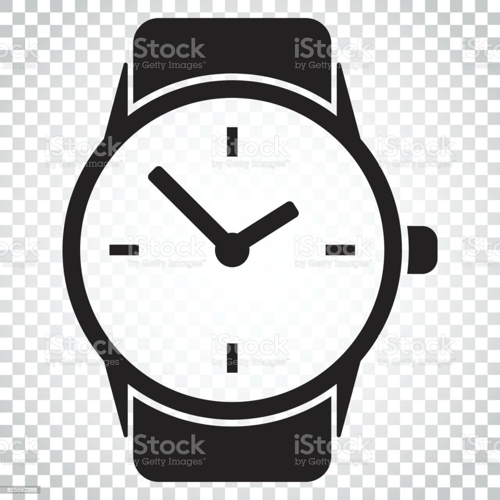 Watch vector icon. Clock flat illustration. Simple business concept pictogram on isolated background. vector art illustration