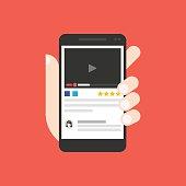 Watch video on smartphone screen