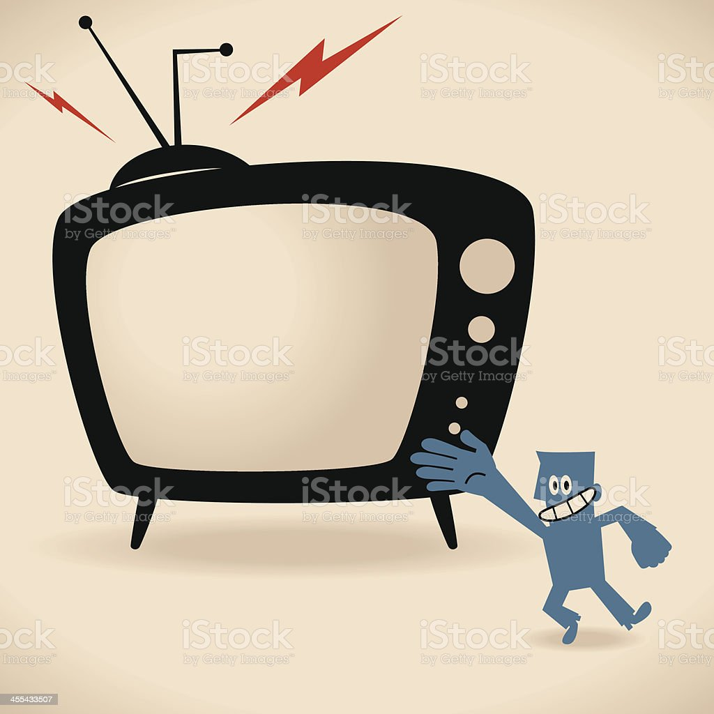 Watch Your Favorite TV Shows vector art illustration