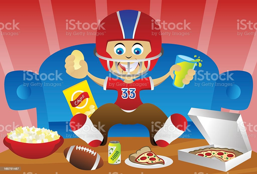 Watching a Game royalty-free watching a game stock vector art & more images of american football - ball