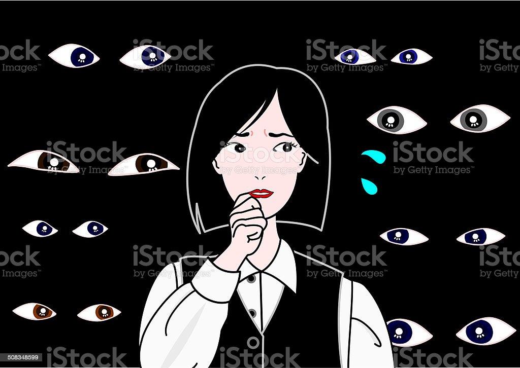 watching eyes vector art illustration