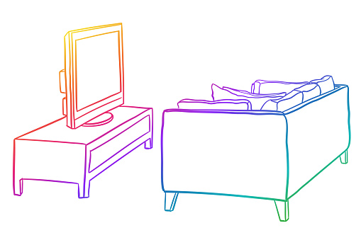 TV Watching Setup Rainbow