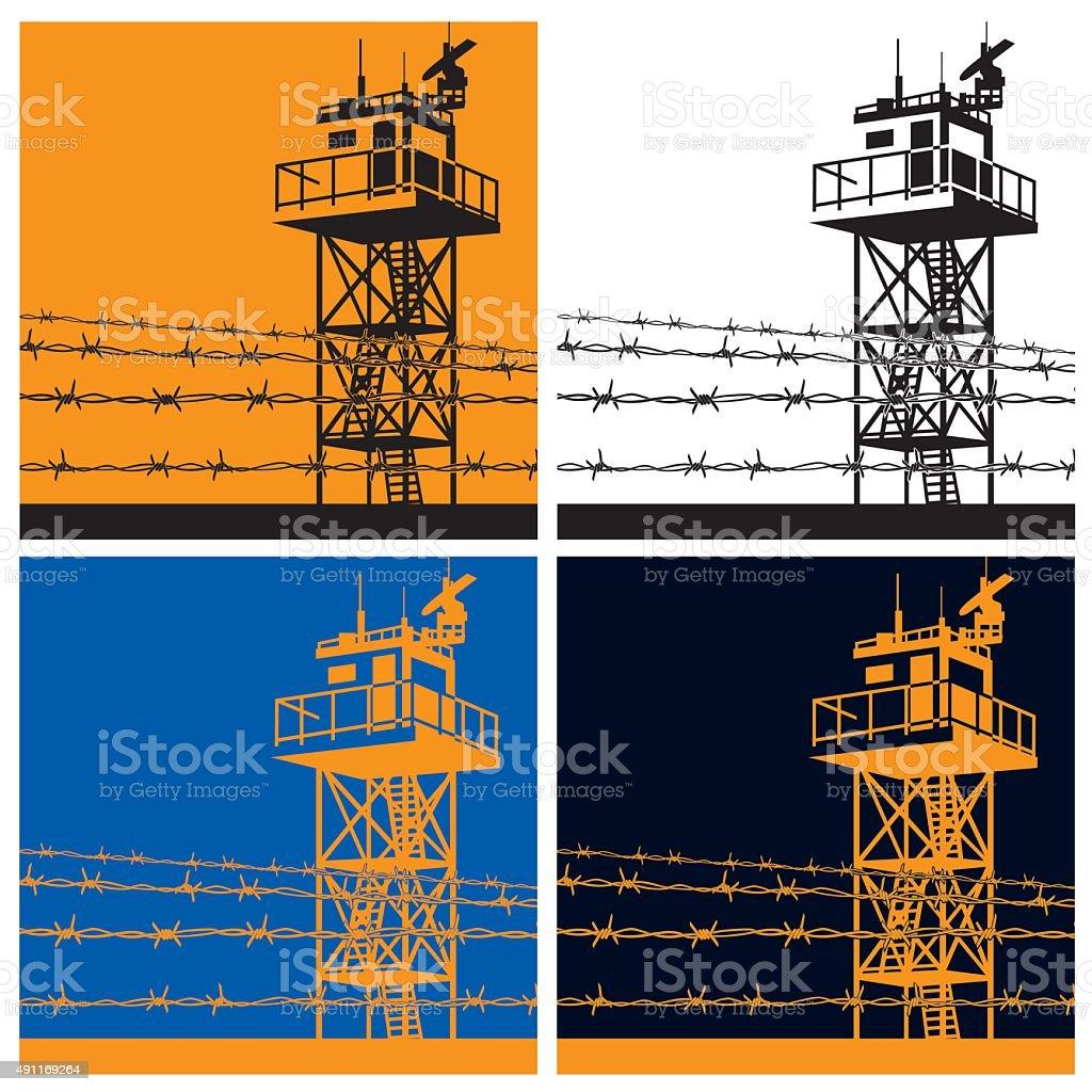 watchtower vector art illustration