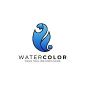 Water Abstract Illustration Vector Template. Suitable for Creative Industry, Multimedia, entertainment, Educations, Shop, and any related business.