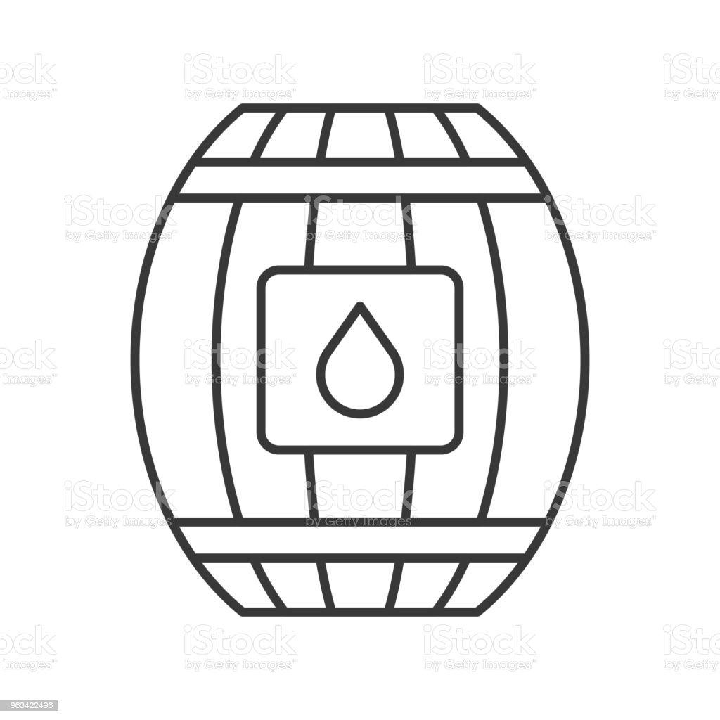Icône de contour de baril eau sur fond blanc - clipart vectoriel de Carré - Composition libre de droits