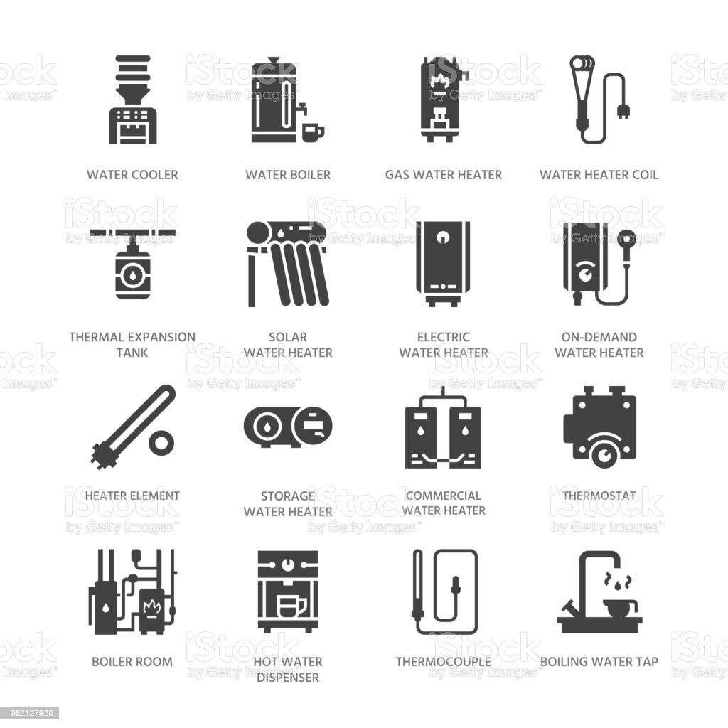 Ilustración de Caldera De Agua Termostato Calentadores Solares Gas ...