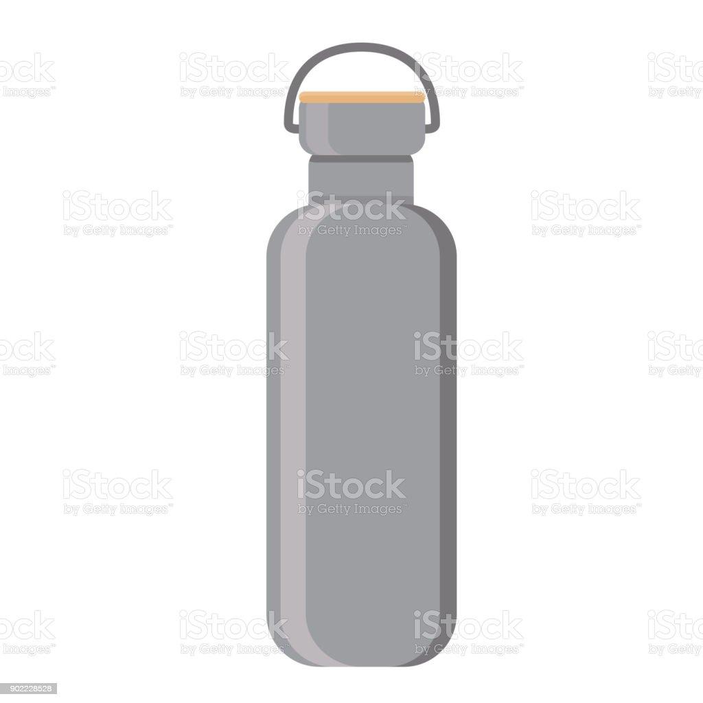 water bottle Flat Design vector art illustration