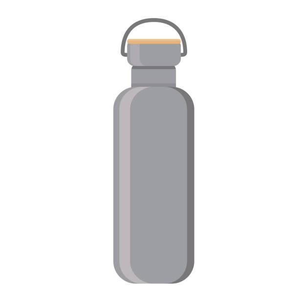 ウォーター ボトル フラット デザイン - ペットボトル点のイラスト素材/クリップアート素材/マンガ素材/アイコン素材