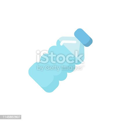 istock Water Bottle Flat Icon. Pixel Perfect. For Mobile and Web. 1145852807