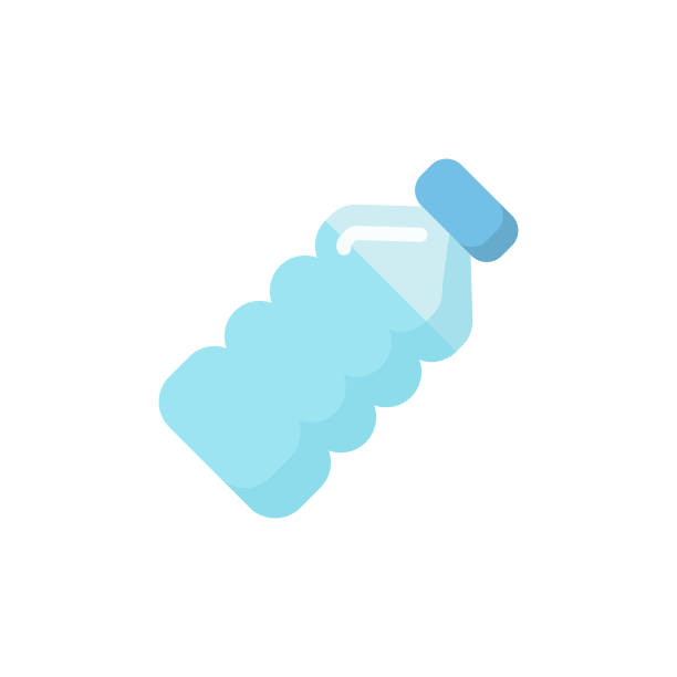 Water Bottle Flat Icon. Pixel Perfect. For Mobile and Web. Flat Icon. plastic stock illustrations