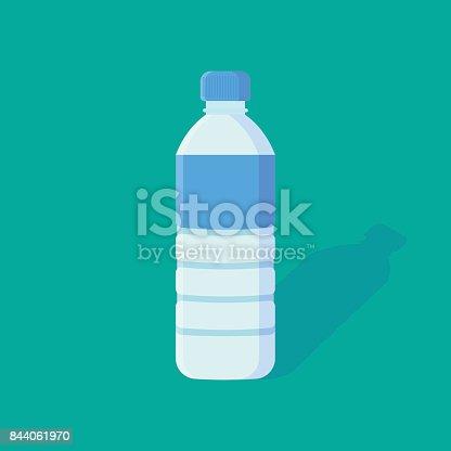 istock Water Bottle flat icon. 844061970