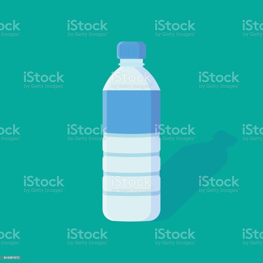 Water Bottle flat icon. vector art illustration