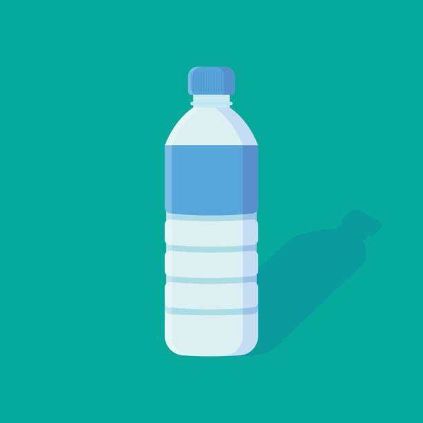 Water Bottle flat icon. Water Bottle flat icon. isolated on background. Vector illustration. Eps 10. bottle stock illustrations