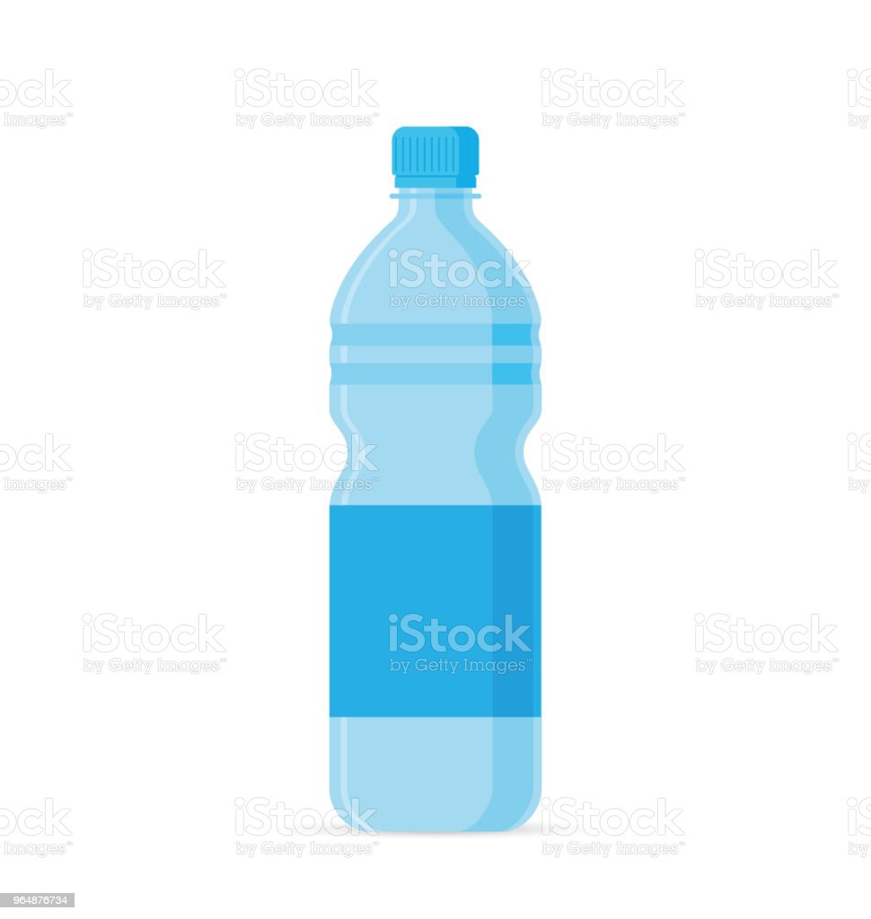 Water bottle flat style royalty-free water bottle flat style stock vector art & more images of blue