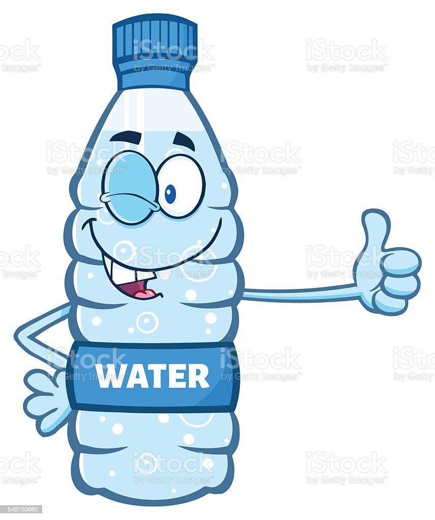 water bottle giving thumb up stock vector art more images of rh istockphoto com water bottle clip art black and white water bottle clip art cute