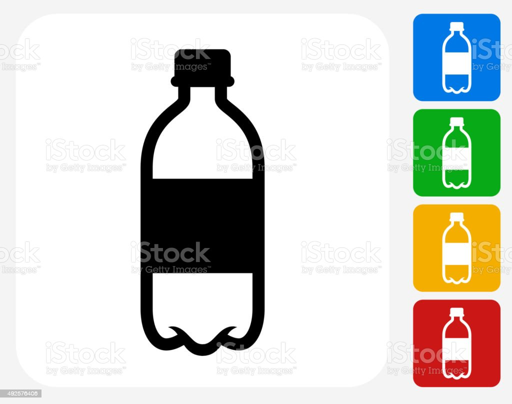 Water Bottle Icon Flat Graphic Design vector art illustration