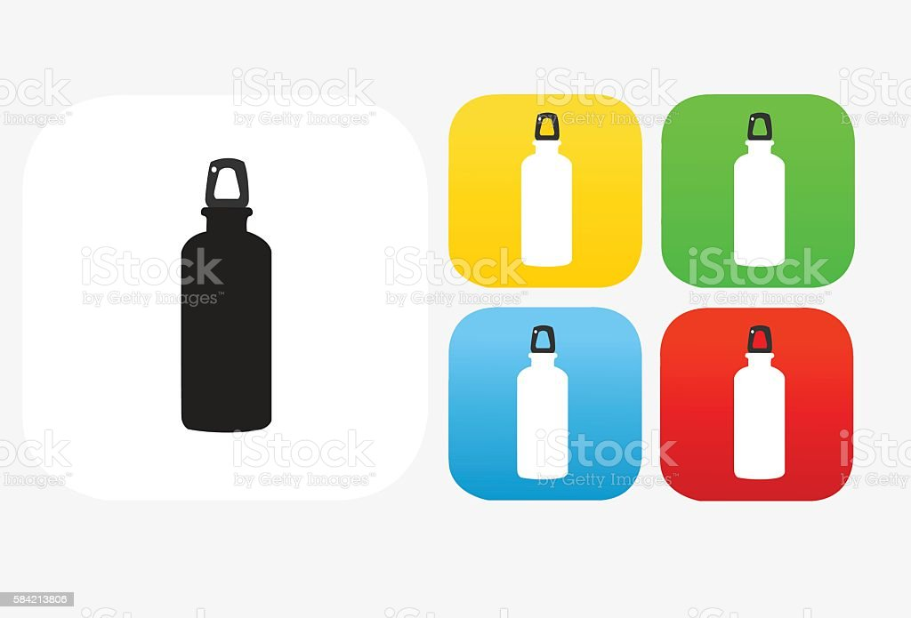 Water Bottle Icon Flat Graphic Design vector art illustration