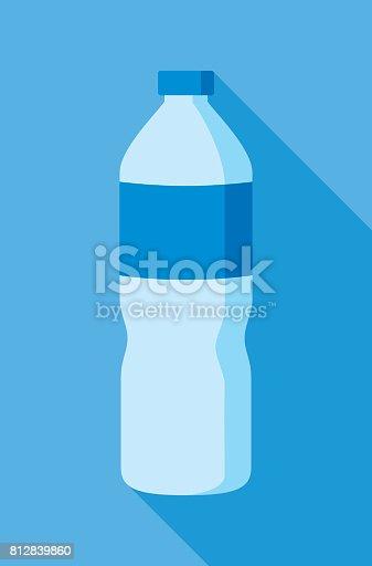 istock Water Bottle Icon Flat 812839860