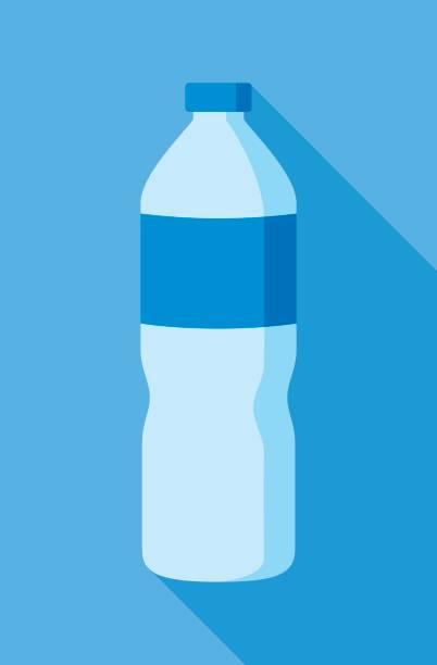 illustrations, cliparts, dessins animés et icônes de icône de la bouteille d'eau plate - bouteille d'eau