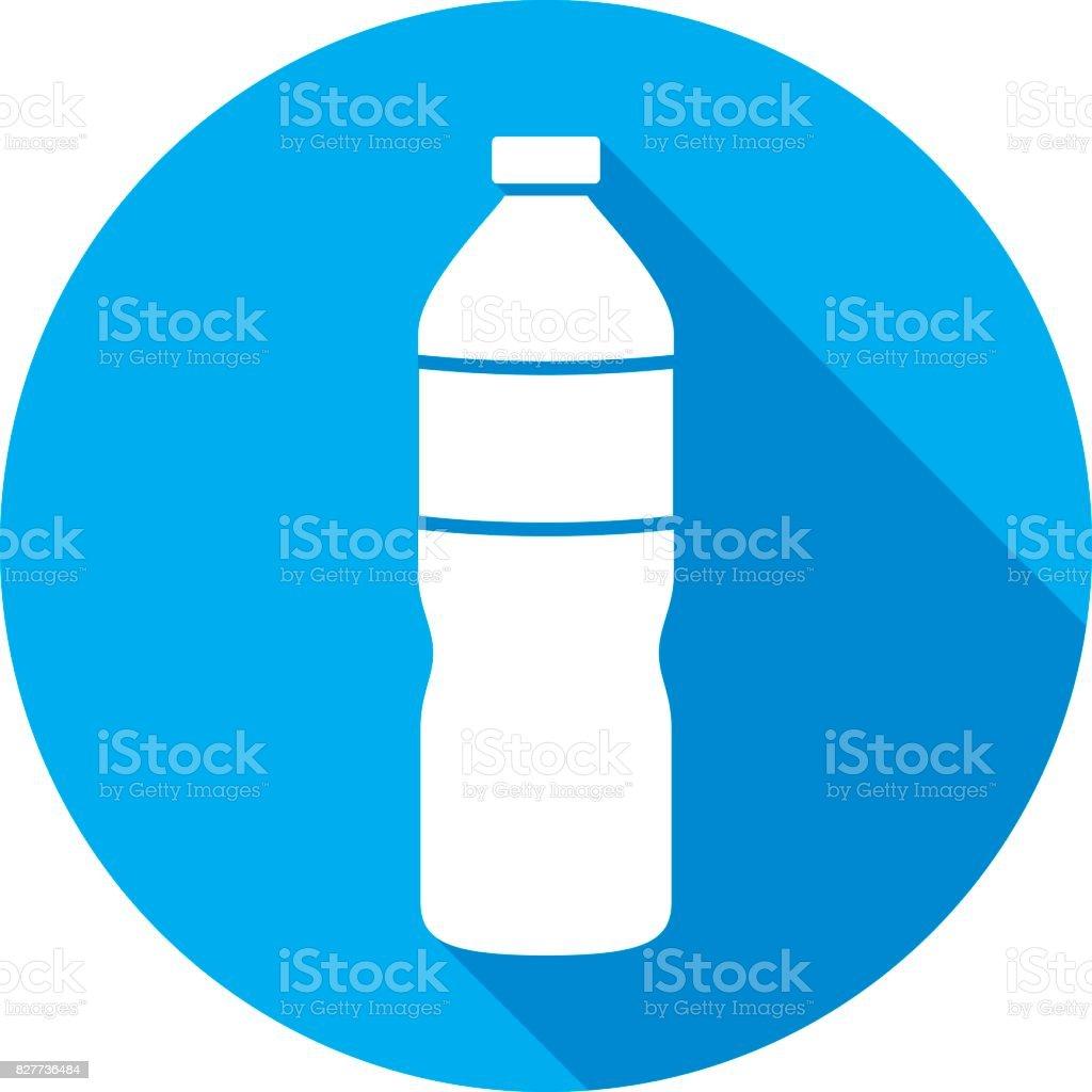 Silueta del icono de la botella de agua - ilustración de arte vectorial