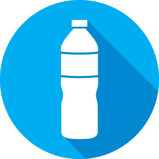 illustrations, cliparts, dessins animés et icônes de bouteille d'eau icône silhouette - bouteille d'eau