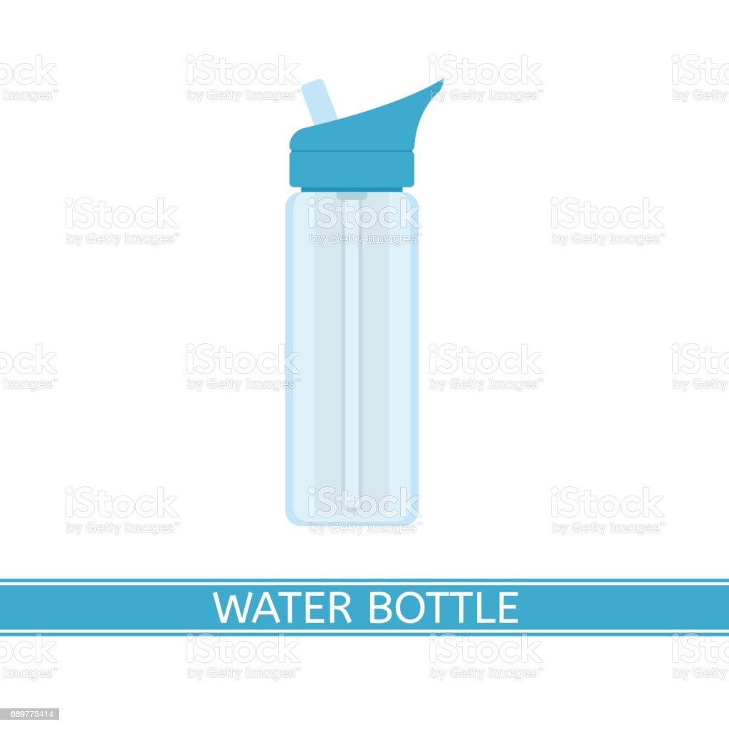 Water Bottle Icon vector art illustration