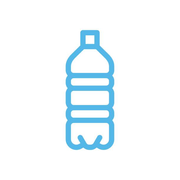 水筒ラインアイコン - ペットボトル点のイラスト素材/クリップアート素材/マンガ素材/アイコン素材