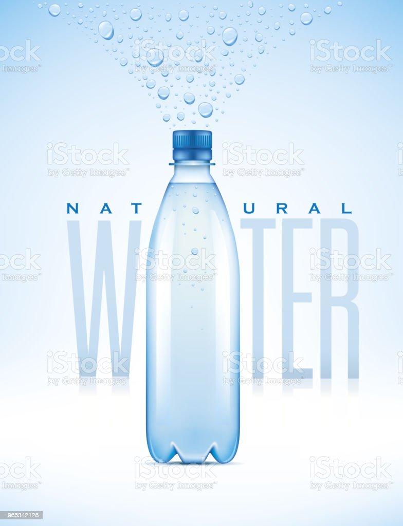 water bottle on blue background with many drops - illustration water bottle on blue background with many drops illustration - stockowe grafiki wektorowe i więcej obrazów biały royalty-free