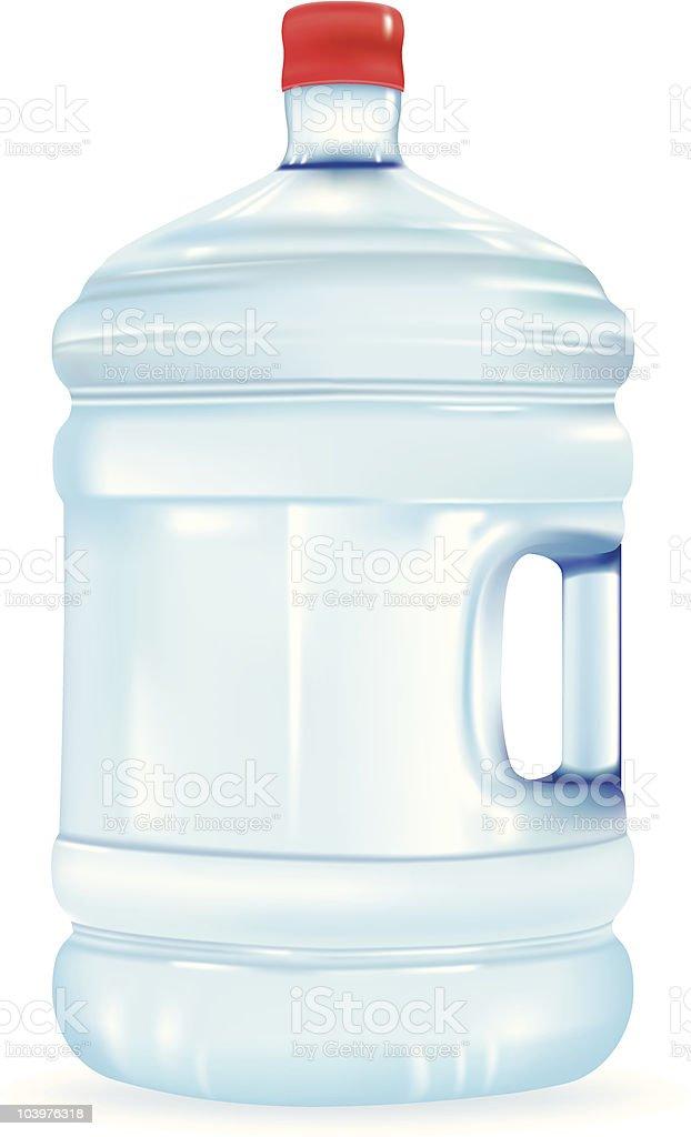 Water Bottle vector art illustration