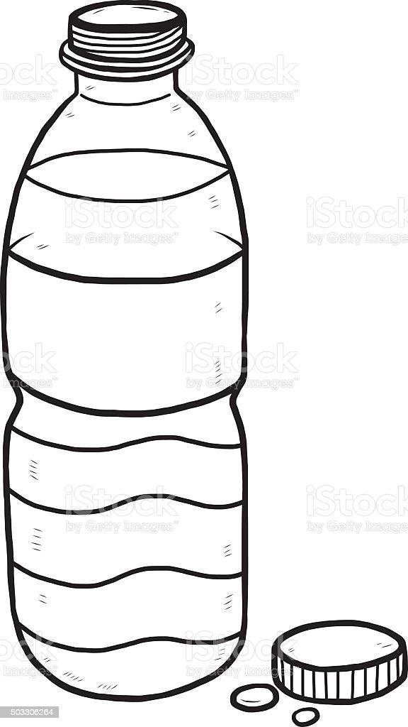 Water Bottle Stock Illustration - Download Image Now - iStockWater Bottle Clip Art Black And White