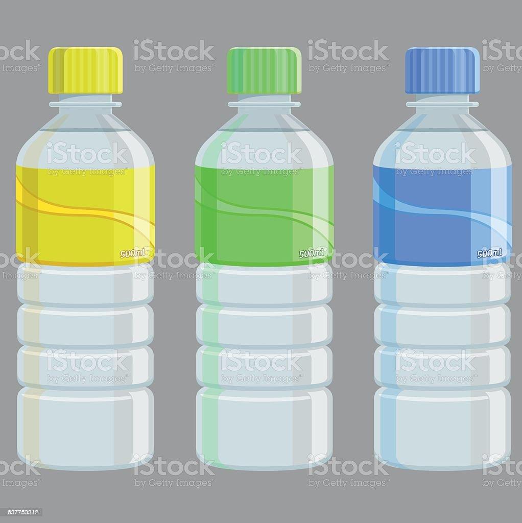 Water Bottles - Illustration - ilustración de arte vectorial