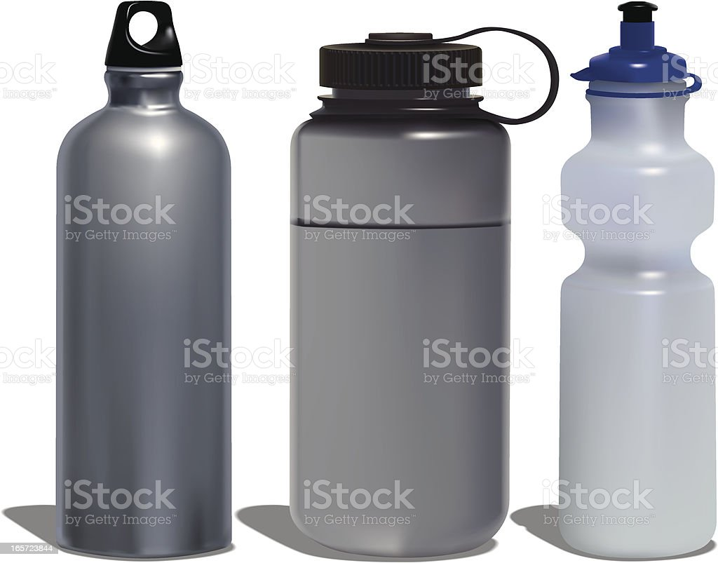 Water Bottles vector art illustration
