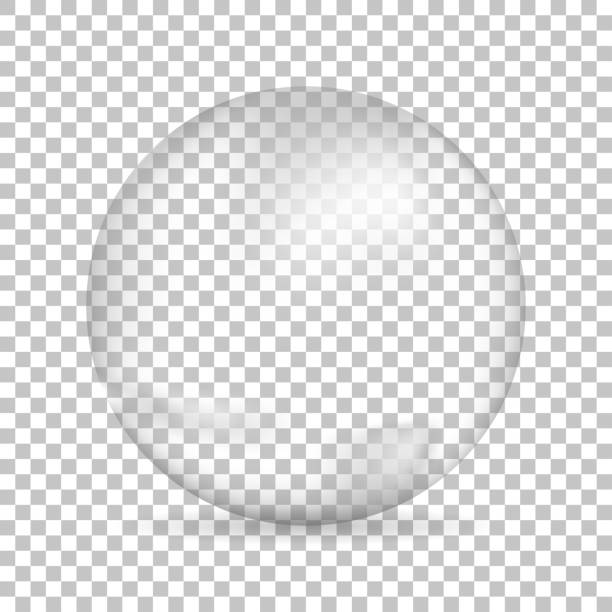 Water bubble on isolated background, vector illustration Water bubble with shadow on isolated background, vector illustration sphere stock illustrations