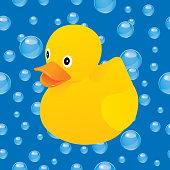istock Water Bubbles Rubber Duck Icon 1272475483