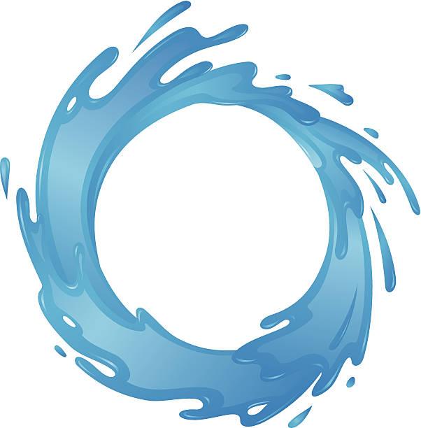 Water Circle vector art illustration