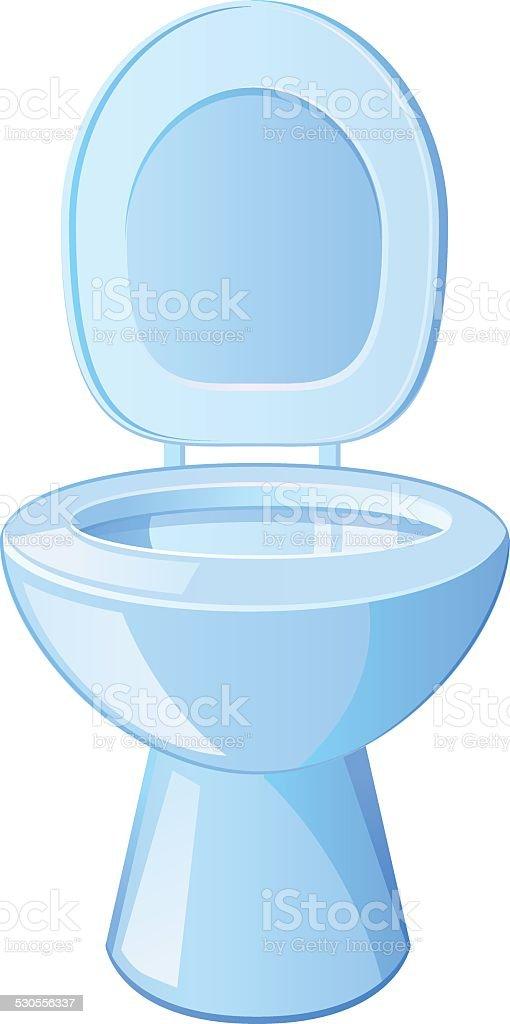 Water Closet or Flush Toilet vector royalty free stock vector art. Water Closet Or Flush Toilet Vector stock vector art 530556337