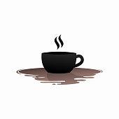 istock Water Coffee Logo Template Design 1330789419