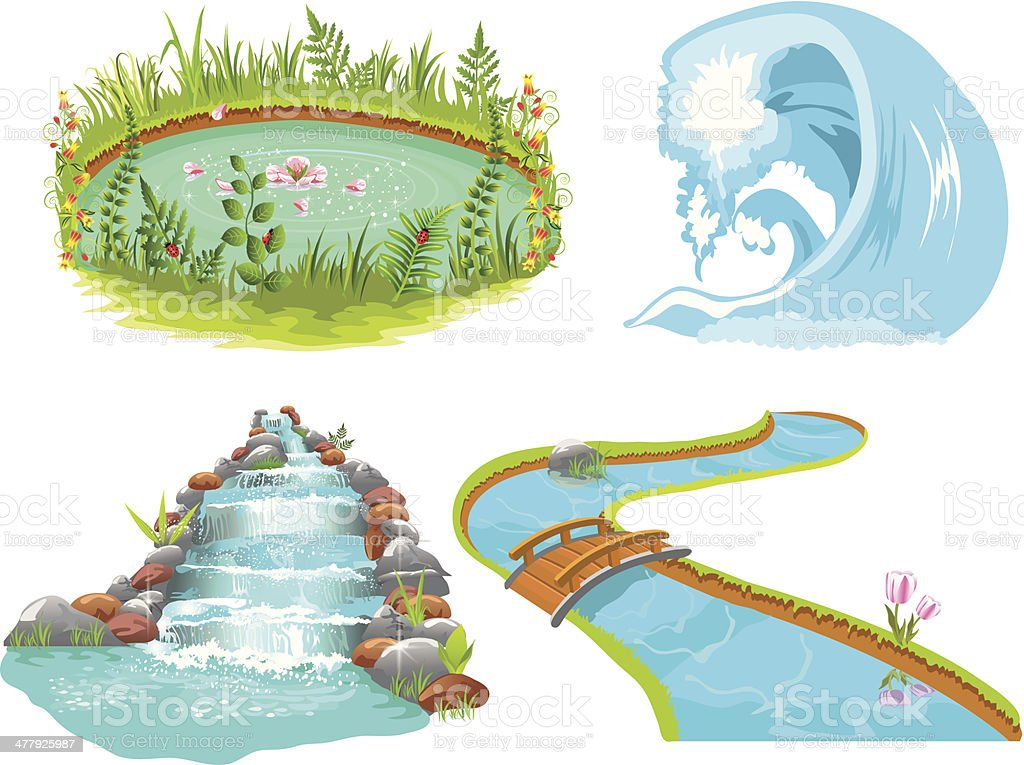 water collection vector art illustration