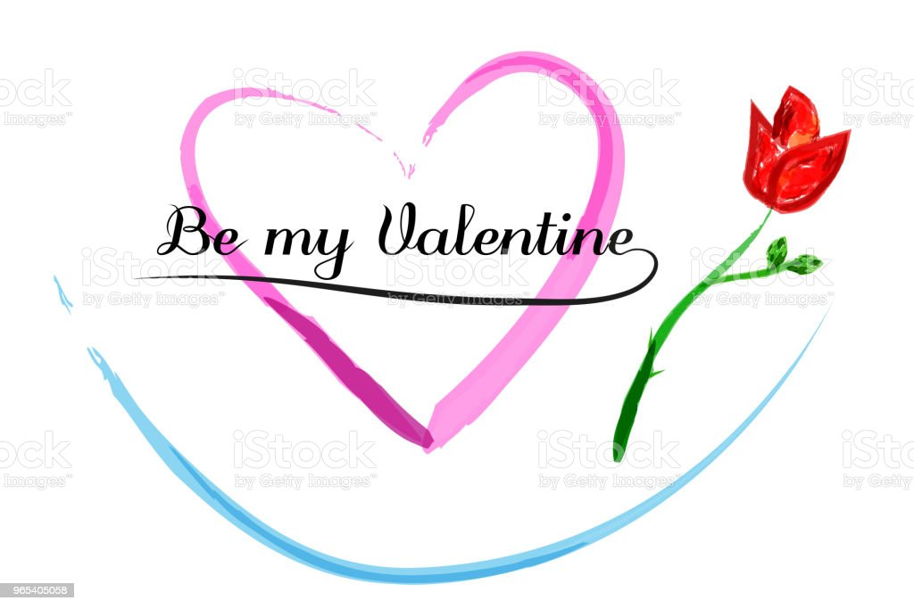 water color lettering, be my valentine royalty-free water color lettering be my valentine stock vector art & more images of beauty