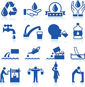 Water conservation icon set