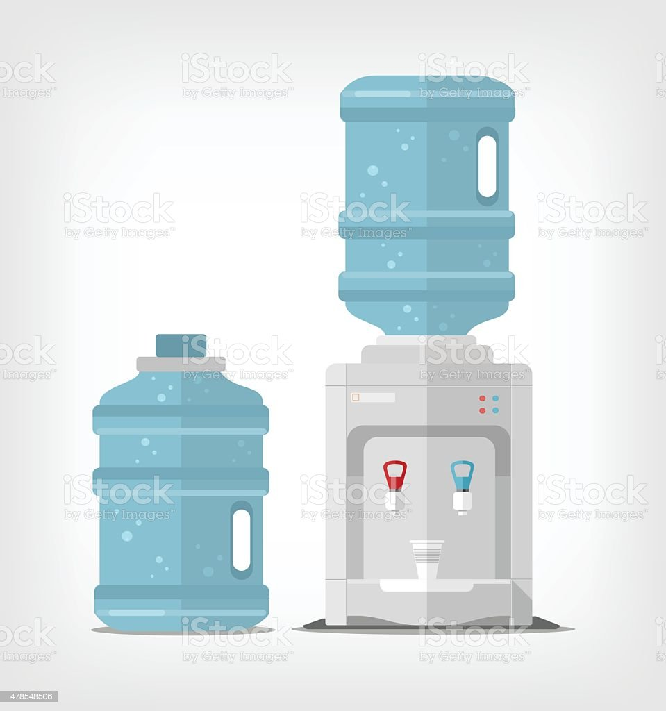 Water cooler. Vector flat illustration vector art illustration