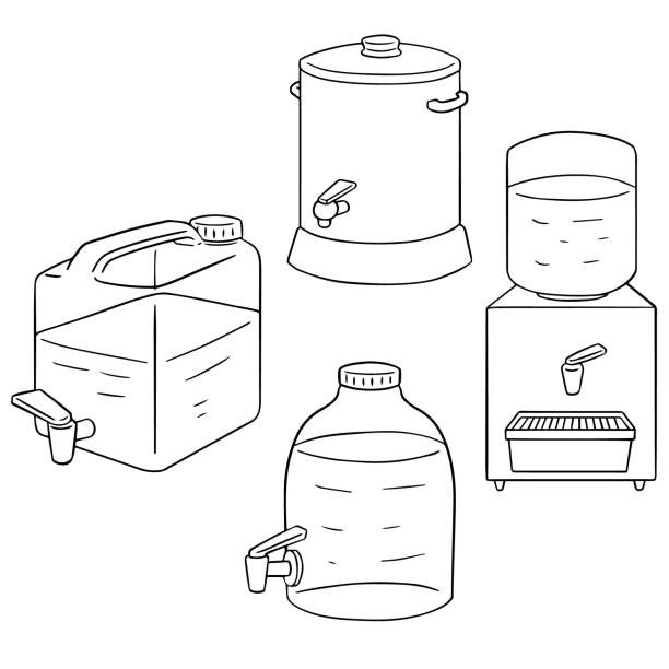 Best Water Gallon Illustrations, Royalty-Free Vector